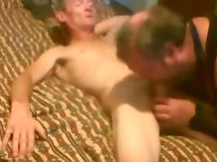 Sissy faggot sucking and fucking big cock