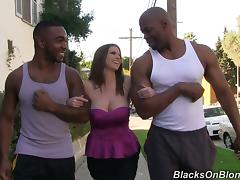 Smoking Hot Brooklyn Chase Brings Home Two Big Black Cocks For Threesome