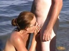Beach, Amateur, Beach, Blowjob, Couple, Swingers