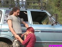 Amateur mature girlfriend getting her ass slammed
