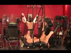 Wicked dominatrix tortures a hot couple