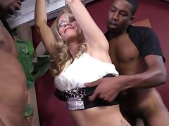Mom and Boy, Black, Blonde, Ebony, Mature, Old