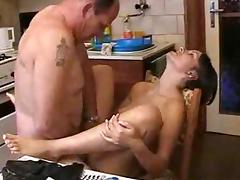 Mature Couple Fucking in Kitchen BVR