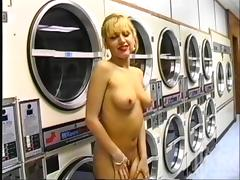 Reality Video of a Crazy Couple Fucking in a Laundromat