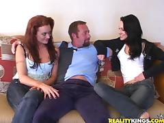 Adorable Viktoria And Her Hot GF Go Hardcore Doing A Threesome