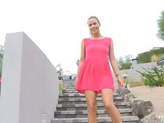 This video has a real cute babe giving us some nice public upskirts