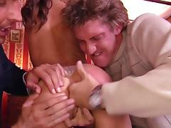 MMF threesome with slutty Sunny Jay