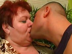 Shaved Pussy, BBW, Cumshot, Kissing, Mature, Redhead
