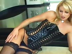Blonde, Blonde, Corset, Fishnet, Leather, Reality