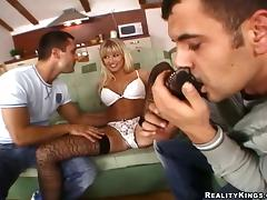 Mouthwatering Natalli D Angelo Shares A Foot Fetish With Two Guys