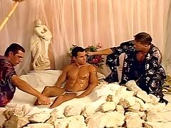 Fantasy gay threesome fuck