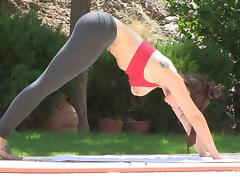 Astounding Lyanna Does Naked Yoga In A Solo Model Video