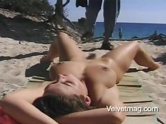 Beach Sex, Adorable, Beach, Big Tits, Brunette, Couple