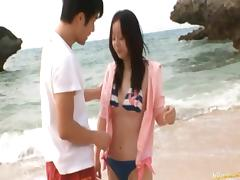 Junko Hayma Asian doll enjoys outdoor sex