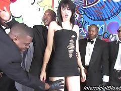 Sweet Amai Liu Sucks Too Many Black Cocks And Gets A Facial Cumshot