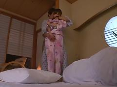 Asian teen Aino Kishi fucked hard in her silk kimono