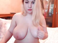 Blonde busty webcam