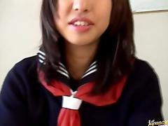 Kaori cum on tit in school uniform