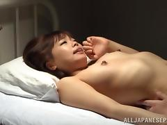 Yummy Asian Goes Hardcore With A Steamy Guy Over A Bed