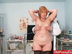 Clinic, Gyno, Hospital, Mature, Pussy, Redhead