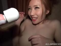 Emily Takahash Plays With A Vibrator Before Going Hardcore