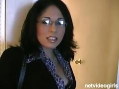 Busty Amateur school teacher auditions for porn