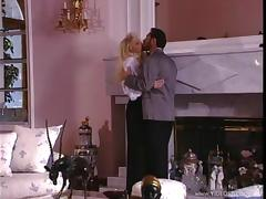 Blond with hot tits is in an amazing retro porn