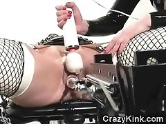 Latex Bondage and Fuck Machine!