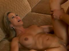 Bubble butt  milf Brandi gets her cunt fucked.