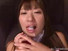 Bunny, Asian, Babe, Brunette, Bunny, Cum