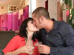 Luscious Lopez and Beverly Hills suck a wang and jump on it by turns