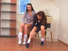 Lesbo girls Olimpia and Sunny(Alisa)
