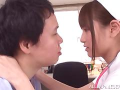 Ai Nikaidou big boobed Asian nurse is a wild one
