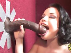 Gloryhole, Blowjob, Gloryhole, Interracial, Big Black Cock