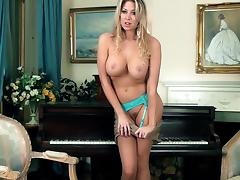 Piano, Big Tits, Curvy, Fingering, Piano, Piercing