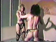Fight, Catfight, Femdom, Lingerie, Spanking, Stockings