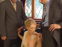 Nice sexy blond Threesome