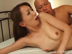 Wonderful Shiho Goes Hardcore With A Bald Dude Over A Bed