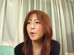 Sexy Manami Suzuki takes two cocks at the same time.