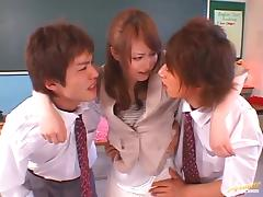 MMF action with hot teacher Akiho Yoshizawa