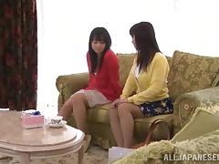 Two Sexy Japanese Girls Have a Lesbian Hookup