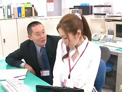 Office lady hardcore gangbang Asami Ogawa