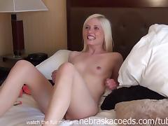 extremely hot platinum blonde slut