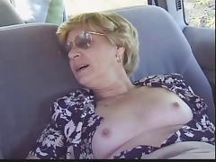 Grandma, Amateur, Backseat, Blonde, Fucking, Granny