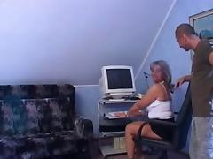 Sexy granny anal.