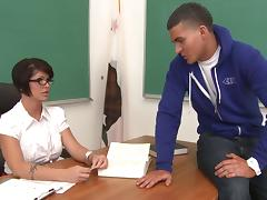 Hot Teacher Goes Hardcore With Her Student In College