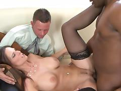 Syren De Mer is fucking with big black dick