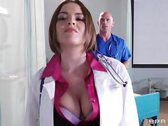 Doctor Krissy Lynn is fucked by one of her lucky peers