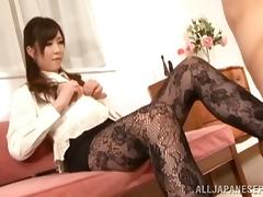 Naughty and lovely Japanese AV model is a domineering chick