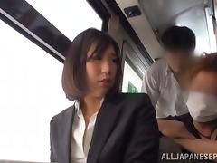 Train, Asian, Blowjob, Cum, Cute, Facial